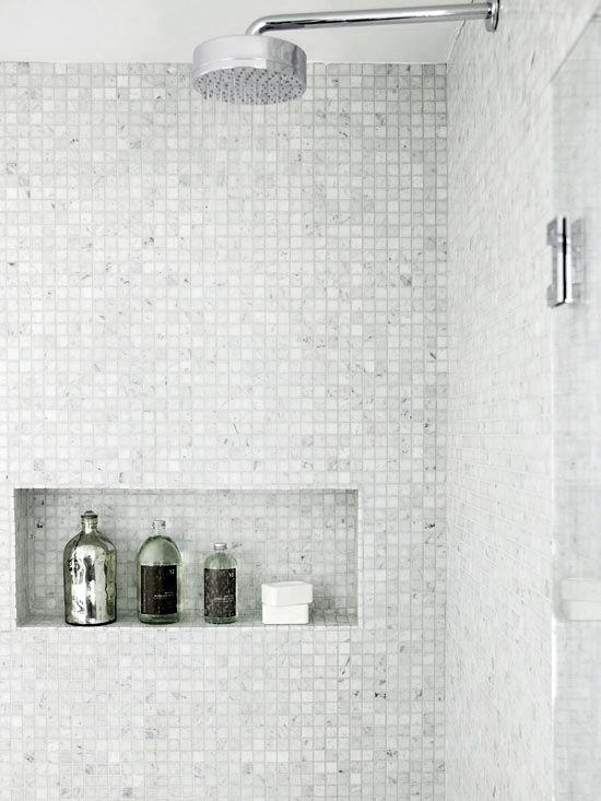Best 25 White Mosaic Bathroom Ideas On Pinterest  White Tiles Amazing Small Black And White Tile Bathroom Decorating Inspiration